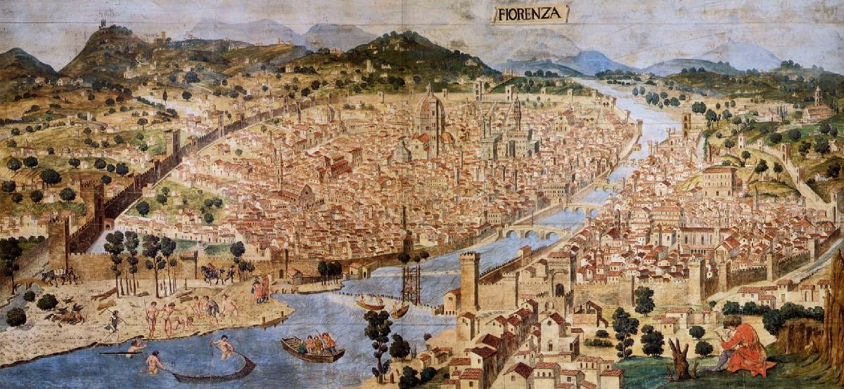 Class Topic: The Renaissance.  Florence_aerial-view_1490